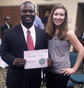 Montravias King with SCSJ staff attorney Clare Barnett