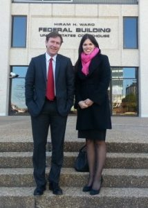 ACLU NC Legal Director Chris Brook with SCSJ Staff Attorney Allison Riggs