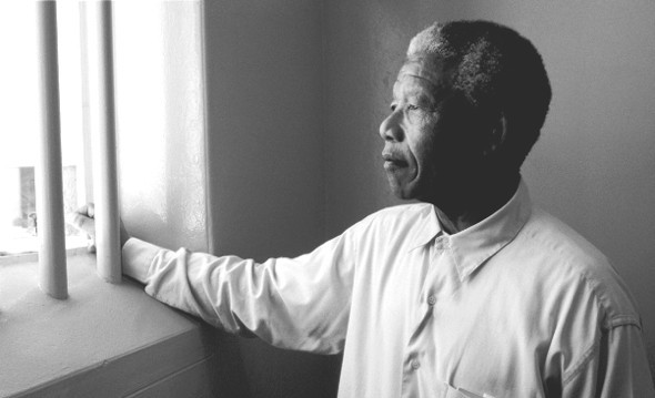 Nelson Mandela visits Robben Island