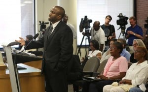 SCSJ's Daryl Atkinson speaks at Durham City Council meeting about racial profiling